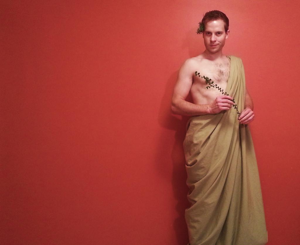 Greek God Toga Backpacker Halloween Costume