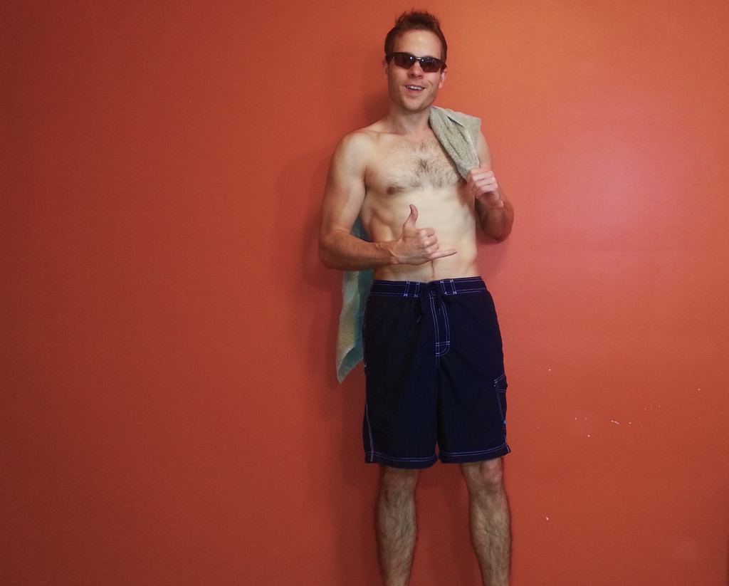 Surfer Beach Guy Halloween Costume for Backpackers
