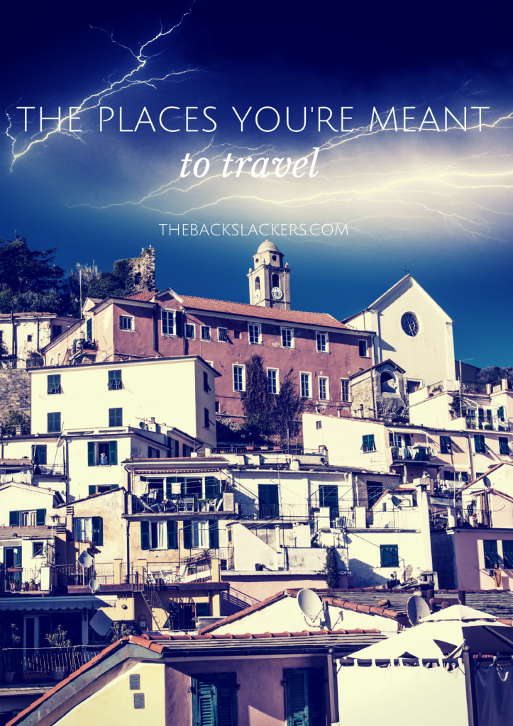 Inspirational Travel Poster - The Places You're Meant to Travel