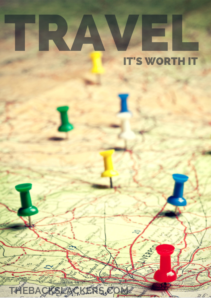 Inspirational Travel Poster - Travel: It's Worth It