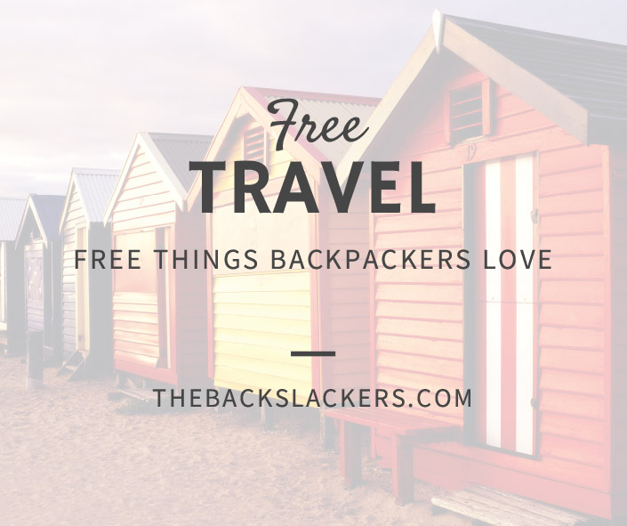 Free Travel - Free Things Backpackers Love