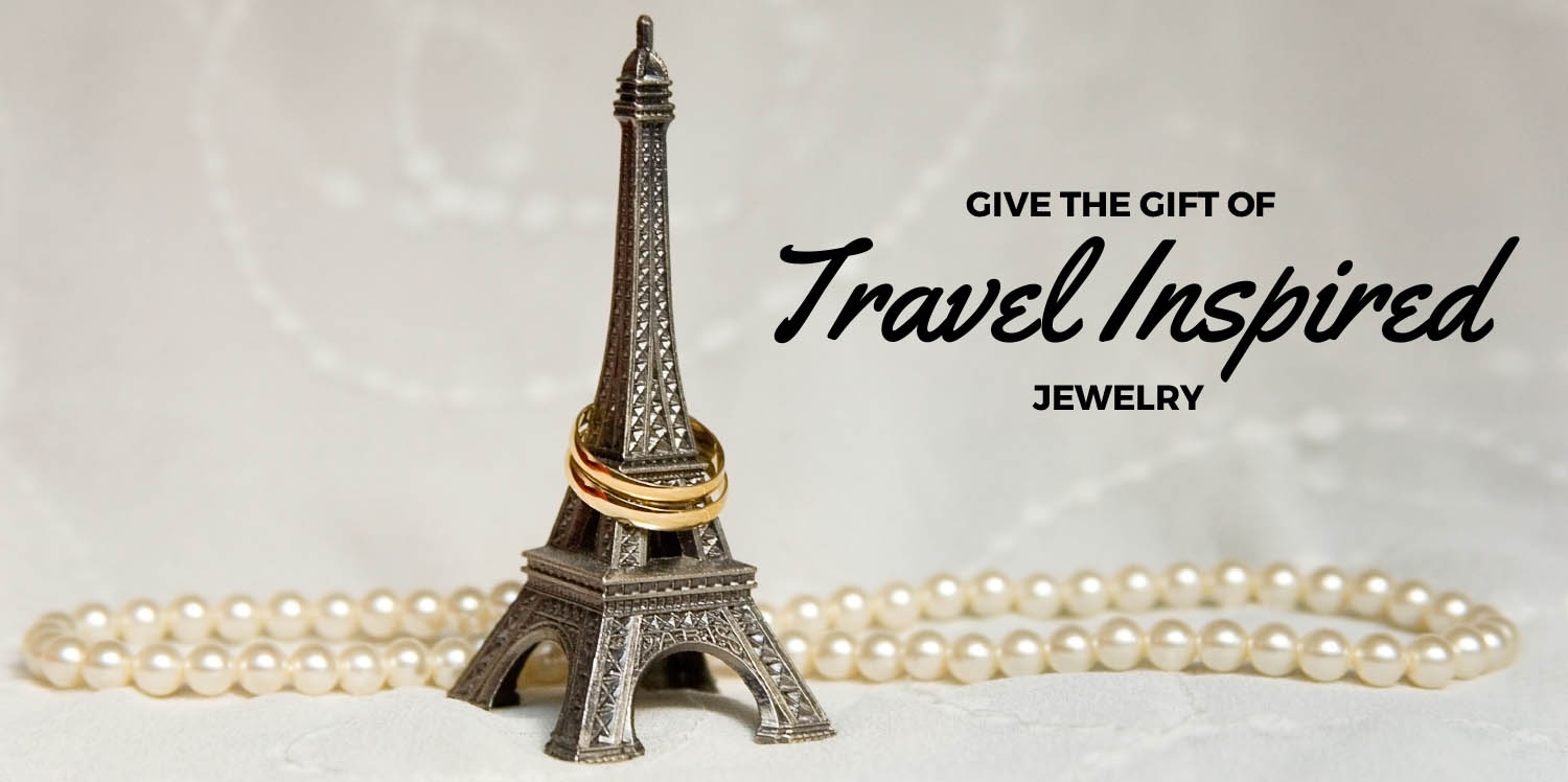 Give the Gift of Travel Inspired Jewelry - Travel themed jewelry Gifts