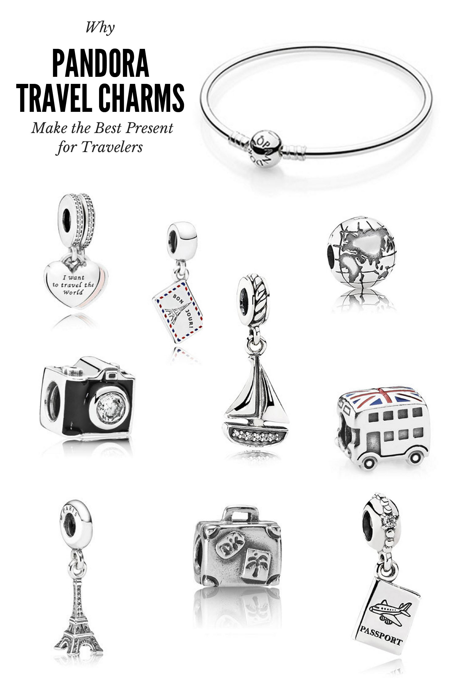 Why Pandora Travel Charms Make the Best Present for Travelers