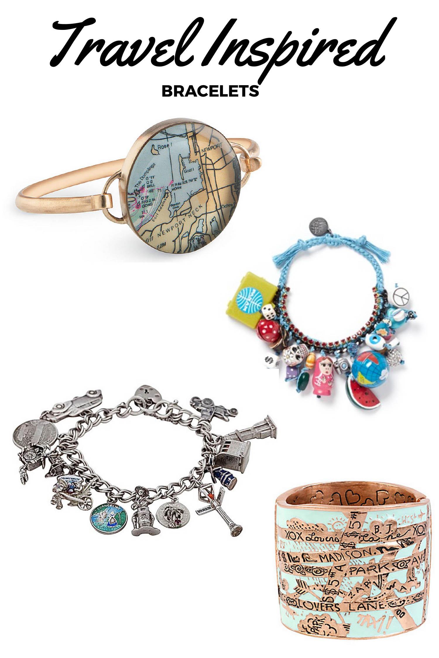 Travel-Inspired Bracelets - Travel Inspired Jewelry