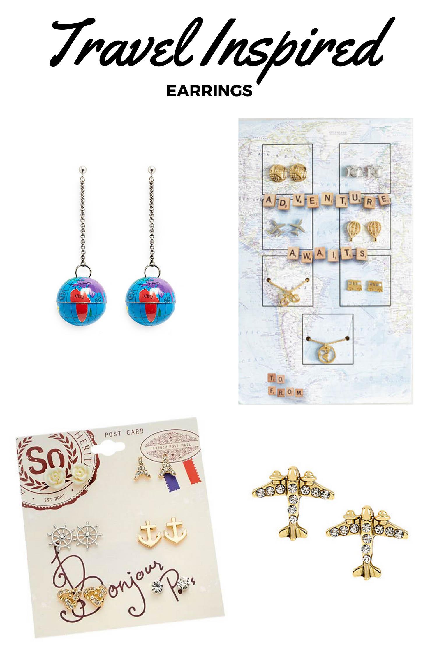 Travel-Inspired Earrings - Travel Inspired Jewelry