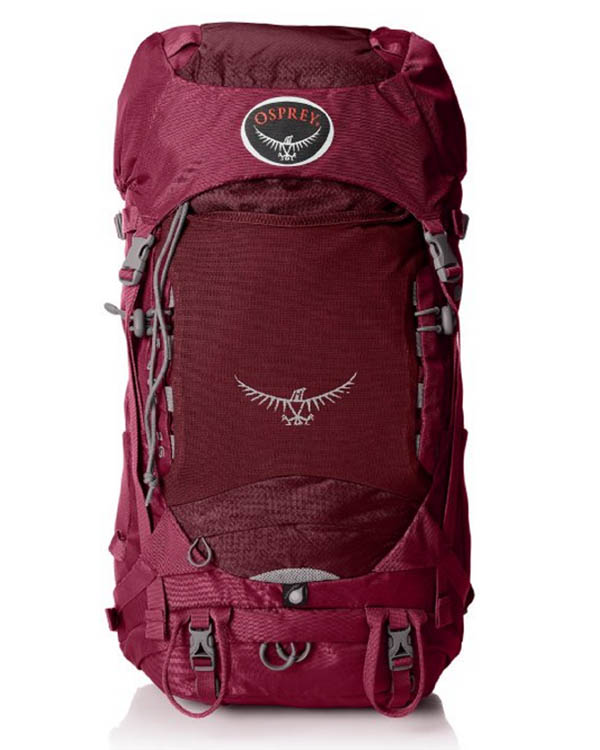 Red Osprey Backpacking Backpack