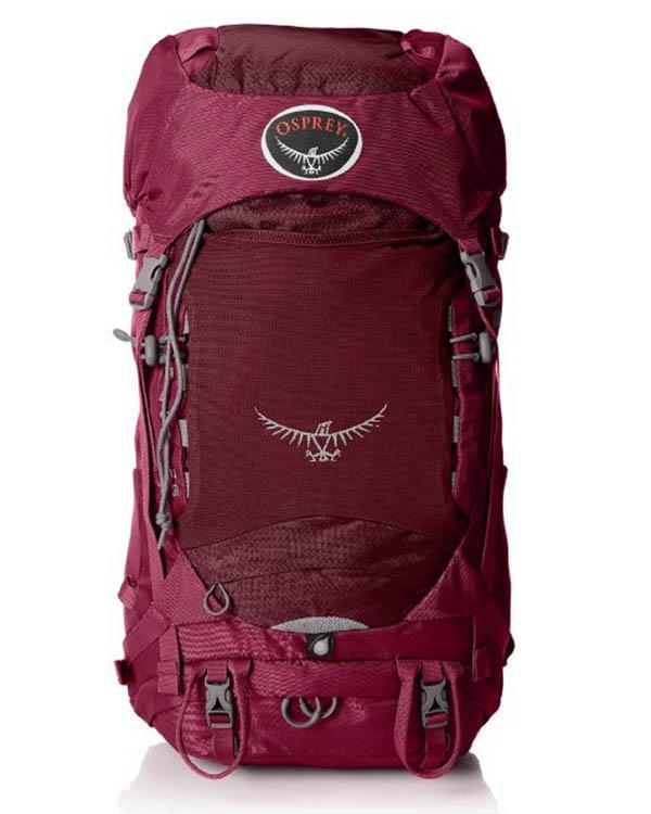 Red Osprey Backpacking Backpack