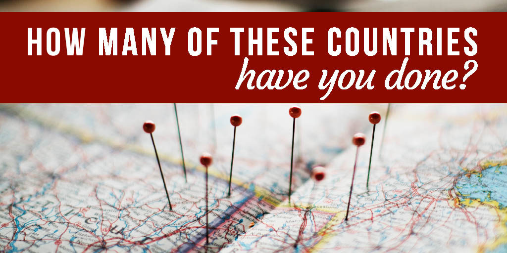 QUIZ: How many of these countries have you done?